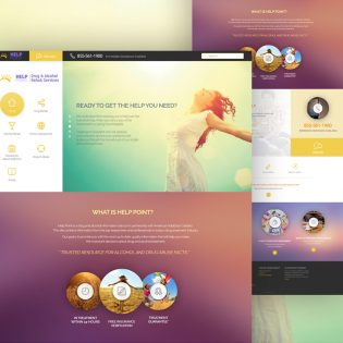 NGO Website Template Free PSD