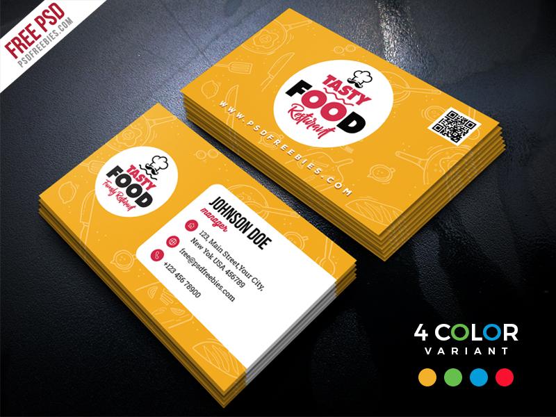 Restaurant business card free psd bundle download psd restaurant business card free psd bundle colourmoves