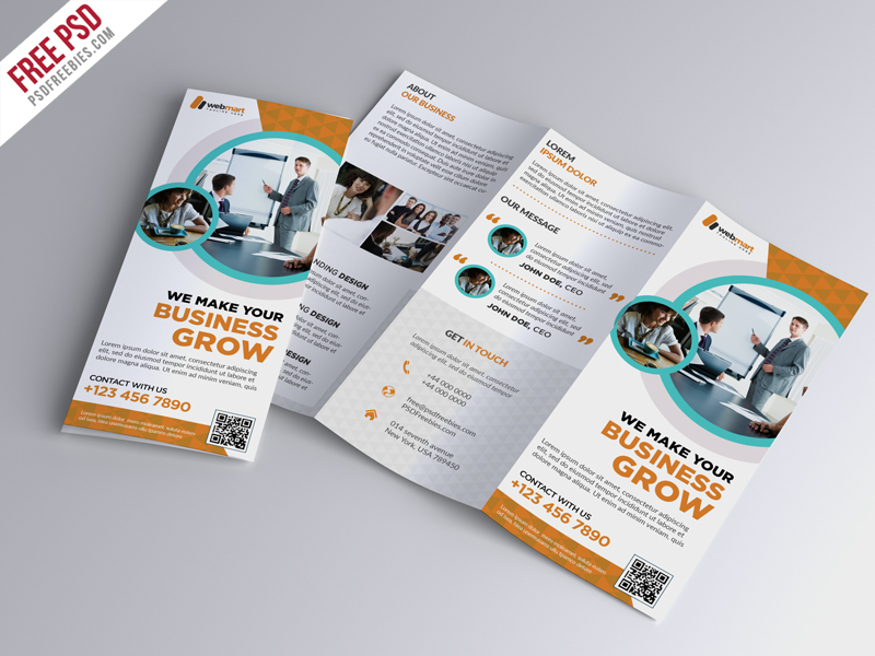Trifold Brochure Template Free Psd Download Psd