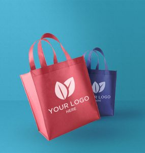 Fabric Shopping Bag Mockup Free PSD