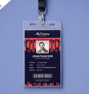 Corporate Company Photo Identity Card Template PSD