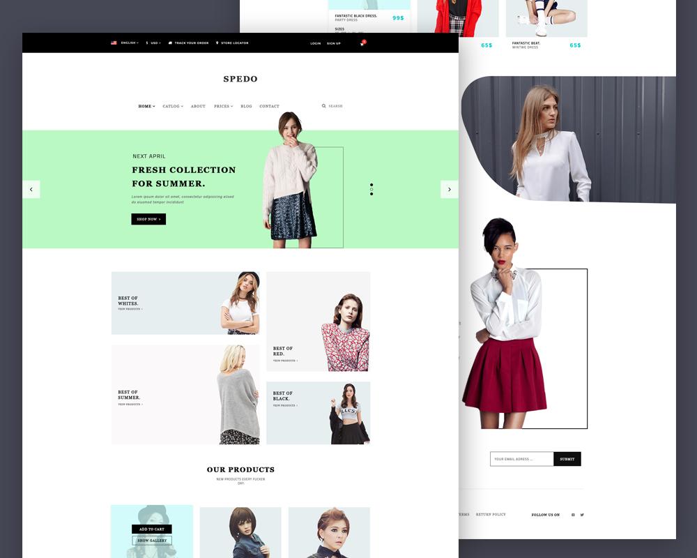 Modern Fashion Store Website Template PSD