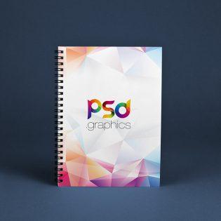 Spiral Notebook Mockup Free PSD