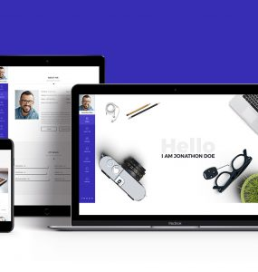 Portfolio & Resume Style Website Templates Free PSD