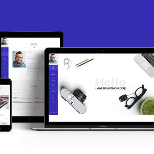Portfolio & Resume Style Website Templates Free PSD