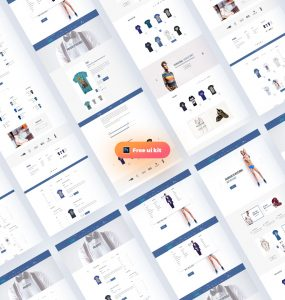 Multipurpose eCommerce Website Templates Free PSD