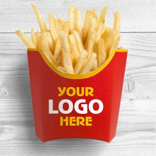 French Fries Packaging Mockup Free PSD