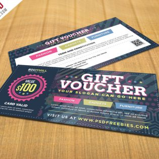 Multipurpose Gift Voucher PSD Template