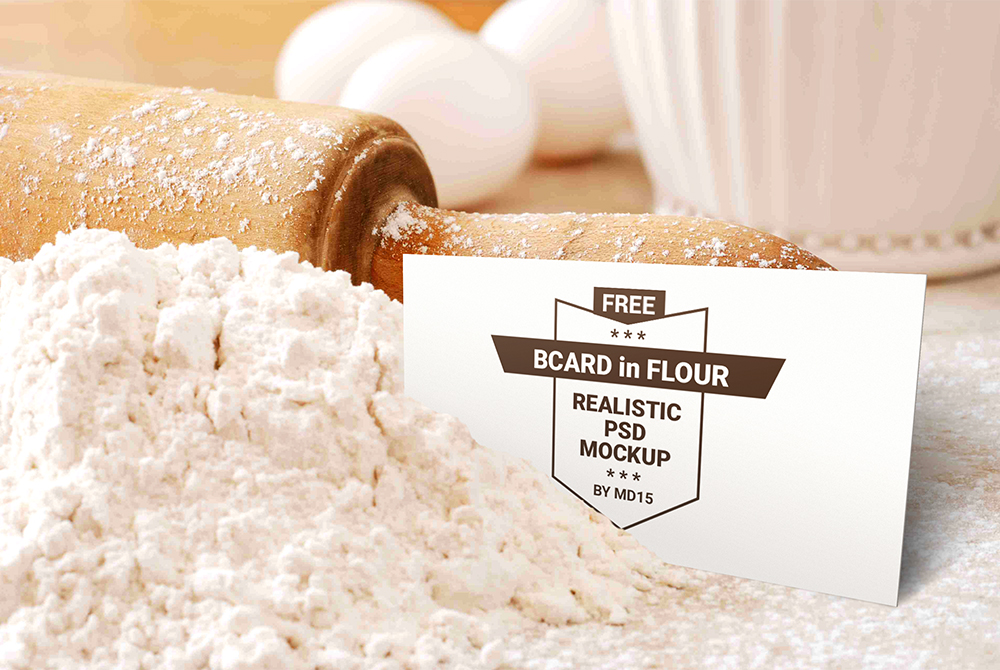 Bakery Business Card Mockup Free PSD