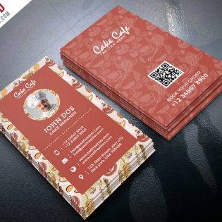 Cake Shop Business Card PSD Template