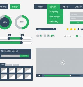 Flat UI Kit Design Free PSD