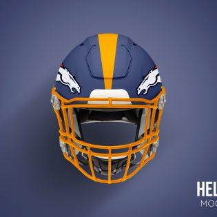 Football Helmet Mockup Free PSD