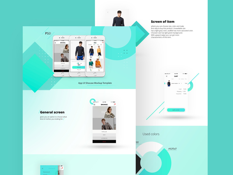 App Landing Page Template Free PSD
