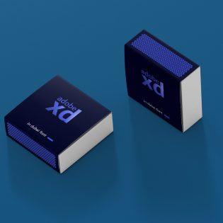 Match Box Mockup Free PSD