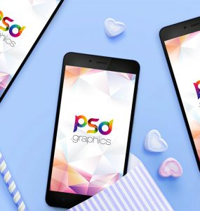 Mobile App Screens Mockup Free PSD