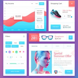 Vibrant eCommerce UI Kit Free PSD