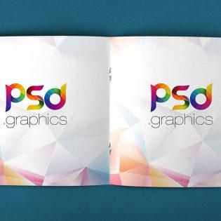 Open Square Magazine Mockup Free PSD