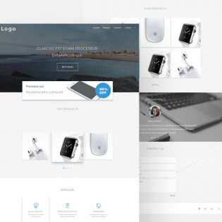 Simple Landing Page Template Free PSD