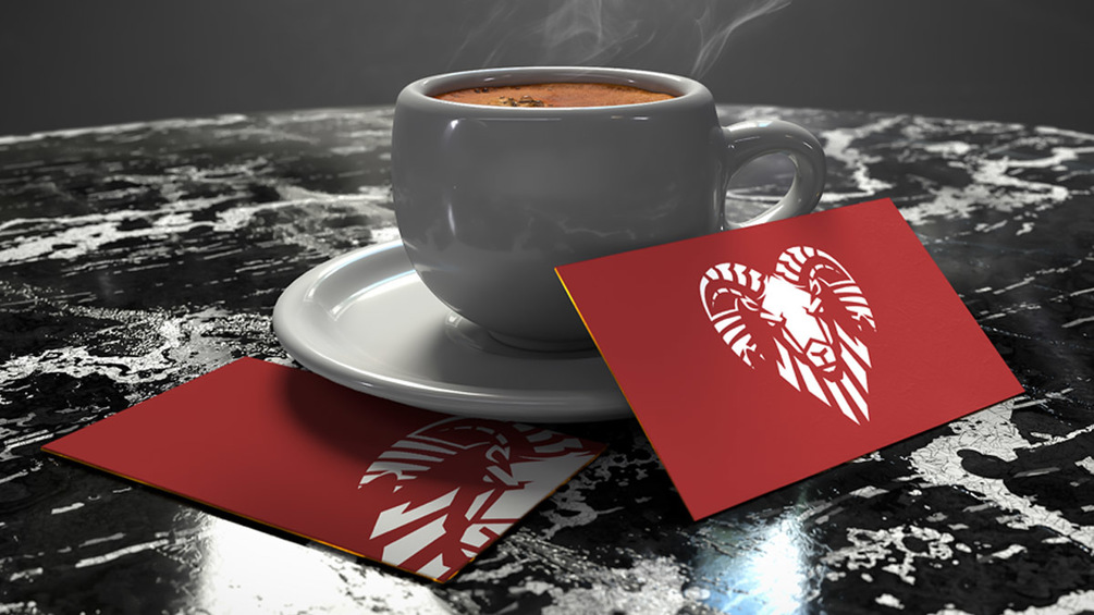 Business Card With Coffee Cup Mockup Free PSD