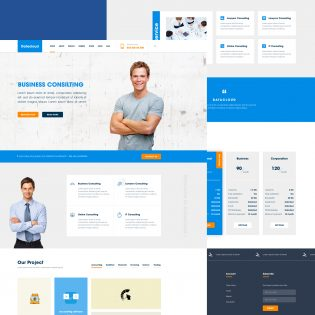 Business Consulting Website Template Free PSD
