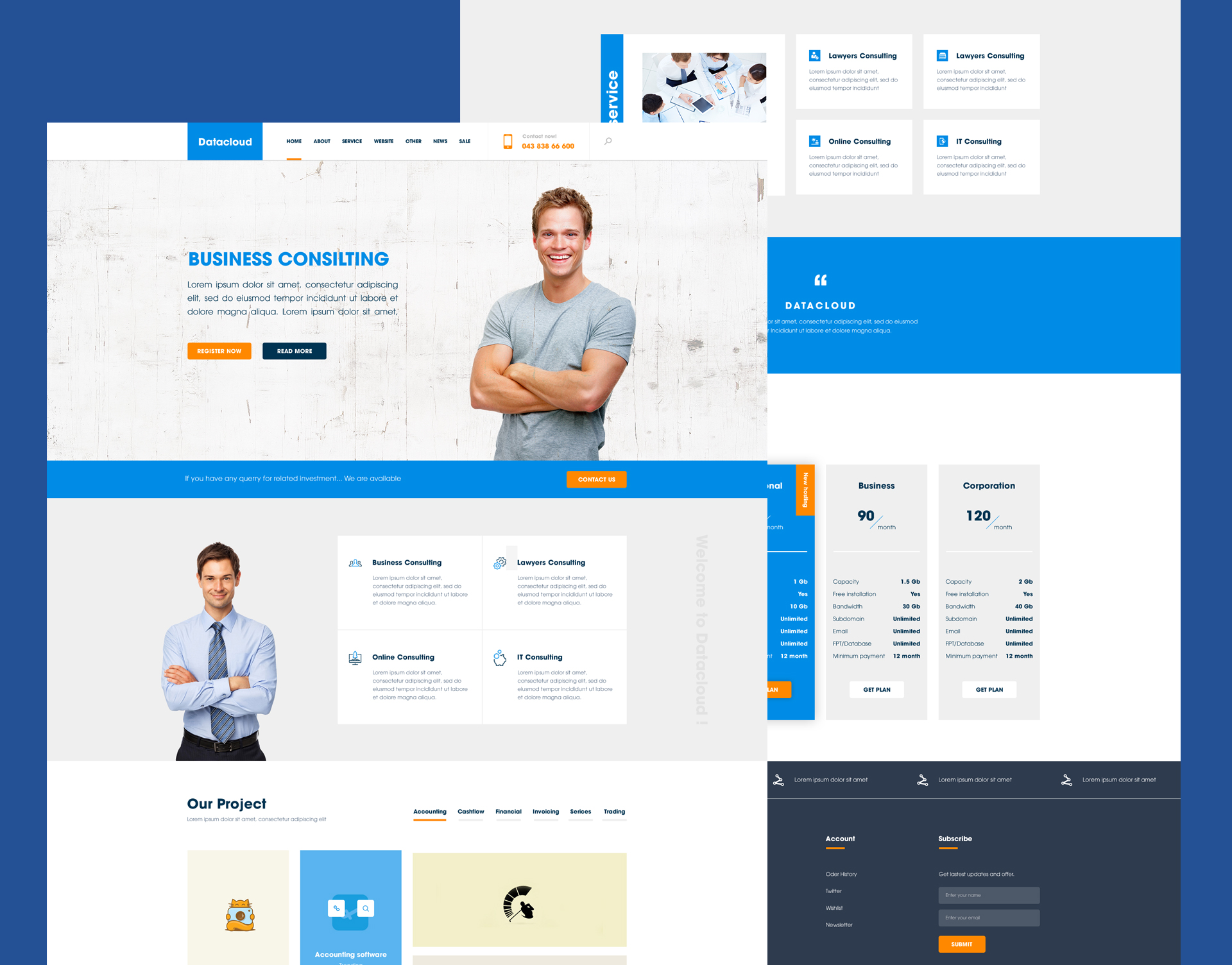 Business consulting website template free psd download for Consulting website