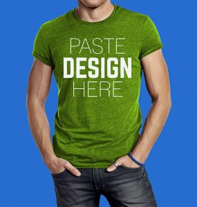 Male T-Shirt Mockup Free PSD