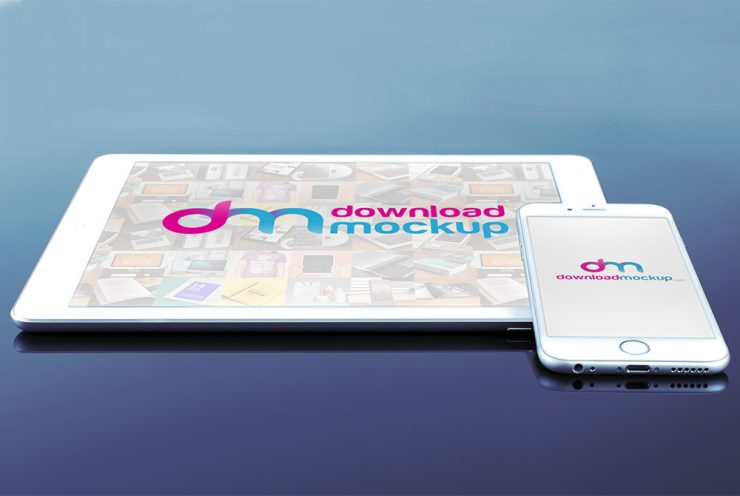 iPhone and iPad Mockup Free PSD