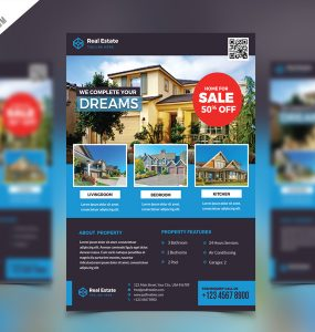 Real Estate Flyer PSD Free Template