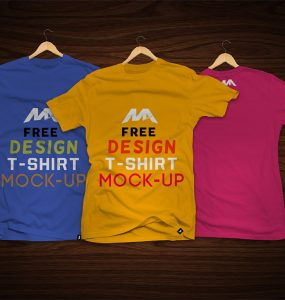 T-Shirt Front and Back Mockup Free PSD