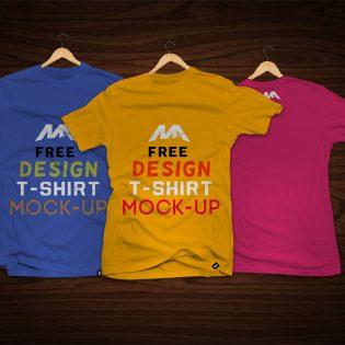T-Shirt Front and Back Mockup Free PSD