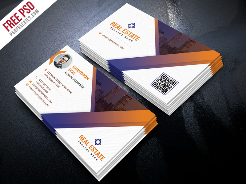 Real estate business card template psd download download psd real estate business card template psd white visiting card unique business card trendy reheart Choice Image