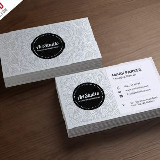 Creative White Business Card Free PSD