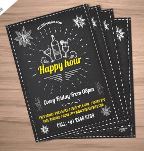 Happy Hour Party Invitation Flyer Free PSD Wine, Vintage, Vector, typography bar, Typography, trendy, Template, Summer, retro flyer, Restaurant Poster, restaurant flyer, Restaurant, pub, PSD, Promotion, Print, Poster, party flyer, Party, open bar, night party, night drink flyer, music party, lounge, invitation, happy hour promotion, happy hour poster, happy hour flyer, happy hour, Graphic, Fresh, Freebie, Free PSD, Free, Food, flyer template, Flyer, Event, Drinks, drink night flyer, drink night, drink flyer, Disco, Design, cocktails, cocktail, club poster, club flyer, Club, chillout party, chill out, chalkboard flyer, Chalkboard, chalk flyer, Celebration, beer promotion, Beer Party, Beer, bar promotion, bar poster, Bar Flyer, Bar, Advertising,