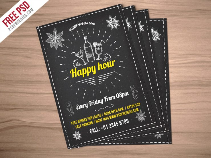 Happy Hour Party Invitation Flyer Free PSD Wine, Vintage, Vector, typography bar, Typography, trendy, Template, Summer, retro flyer, Restaurant Poster, restaurant flyer, Restaurant, pub, PSD, Promotion, Print, Poster, party flyer, Party, open bar, night party, night drink flyer, music party, lounge, invitation, happy hour promotion, happy hour poster, happy hour flyer, happy hour, Graphic, Fresh, Freebie, Free PSD, Free, Food, flyer template, Flyer, Event, Drinks, drink night flyer, drink night, drink flyer, Disco, Design, cocktails, cocktail, club poster, club flyer, Club, chillout party, chill out, chalkboard flyer, Chalkboard, chalk flyer, Celebration, beer promotion, Beer Party, Beer, bar promotion, bar poster, Bar Flyer, Bar, Alcohol, Advertising,