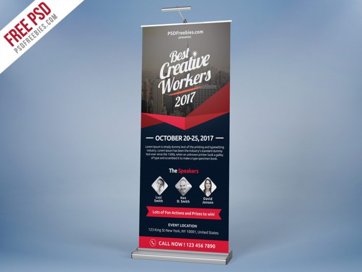 Multi Purpose Event Roll-up Template Free PSD