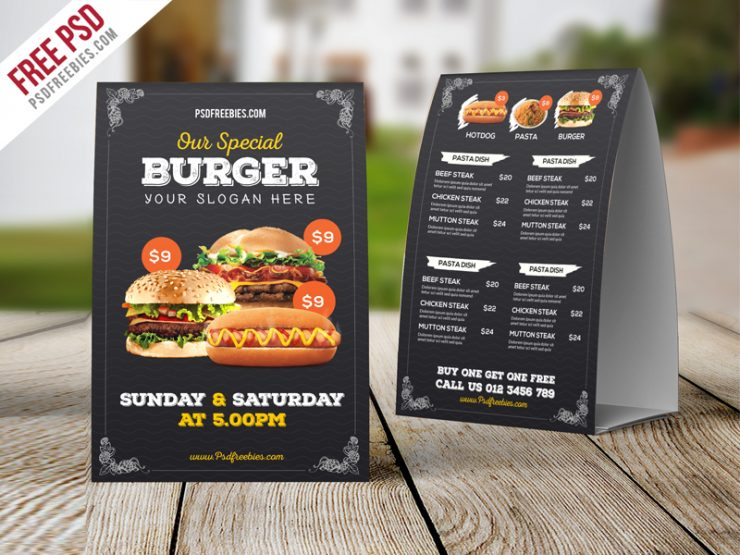 Fast Food Menu Table Tent Template Free PSD Vintage, unique, typographic, trifold, Texture, Template, table tent psd, table tent, Symbol, Summer, roll-up banner, roll up, Retro, Restaurant Signage, restaurant menu cart, restaurant menu, restaurant house, restaurant flyer, Restaurant business, restaurant banner, Restaurant, pub, PSD, Promotion, Print template, print ready, Print, pizza, Photoshop, pasta, modern menu, menu templates, Menu Table tent, menu design, menu cart, Menu, italian, Holiday, happy hour, golden menu, french, Freebie, free Restaurant table tent, Free PSD, Free, food shop, Food, Flat, fast food, Drinks, dinner, delicious menu, Creative, Cool, Coffee, cocktail, club poster, Club, Clean, chicken, Chalkboard, Card, Cafe Table Tent, Cafe, Business, Black, Best Freebie, Beer, Bar Flyer, Bar, Advertising, advertisement, advertise, Advert, ad,