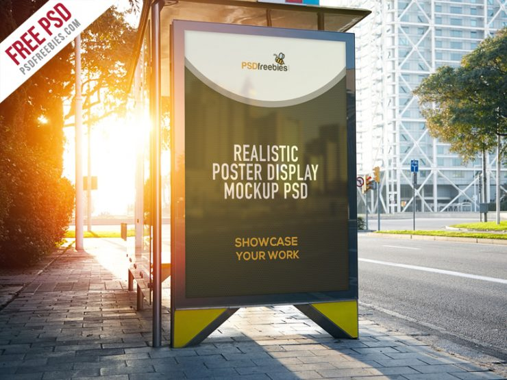 Exhibition Stand Design Mockup Psd : Realistic poster display mockup free psd download