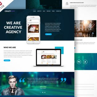 Creative Agency Website Template Free PSD