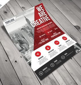 Modern Business Agency Flyer Free PSD