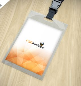 Download Free Lanyard PSD Download PSD - Free lanyard template
