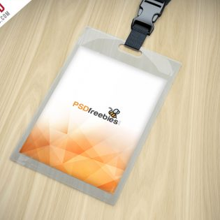 Identity Card Holder Mockup Free PSD