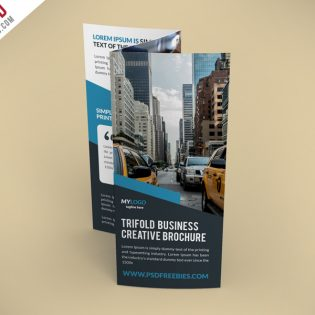 Creative TriFold Brochure Free PSD Template