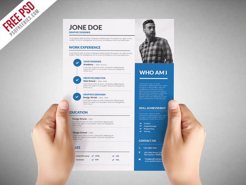 Graphic designer resume template free psd download download psd graphic designer resume template free psd white us letter the resume template yelopaper