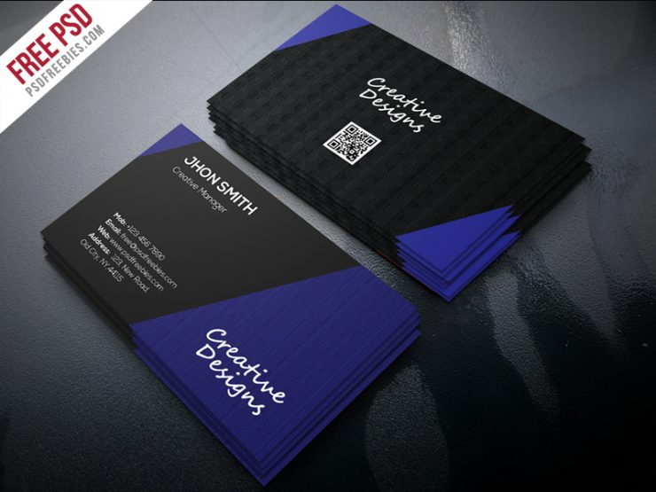 Creative Company Business Card PSD Freebie