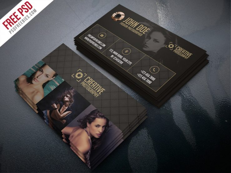 Fashion photographer business card template free psd for Photographer id card template
