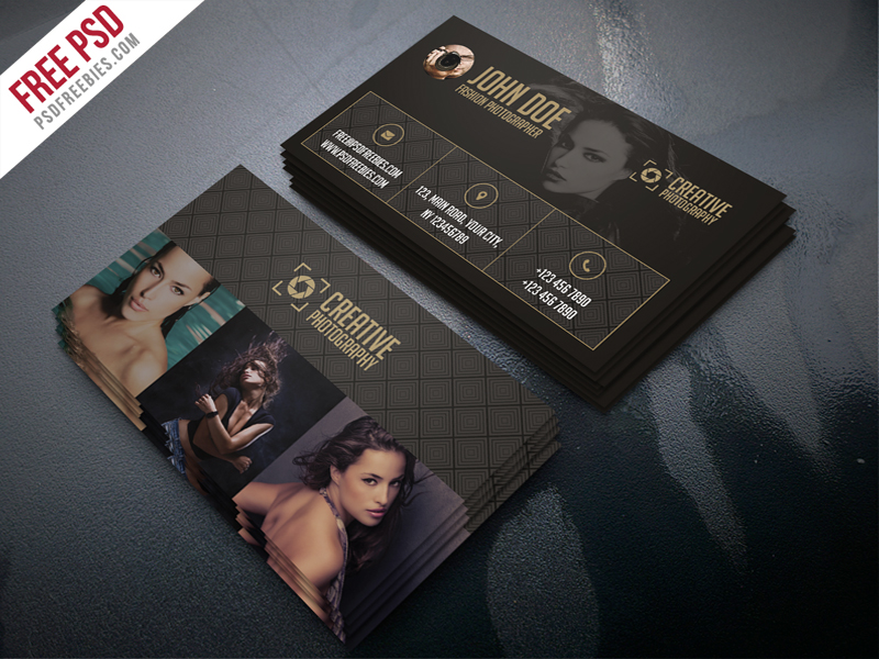 Fashion Photographer Business Card Template Free PSD Download - Photography business card template