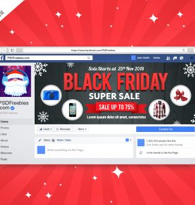 Black Friday Sale Facebook Cover Picture Free PSD