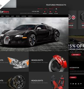Car Accessories Ecommerce Web Template Free PSD