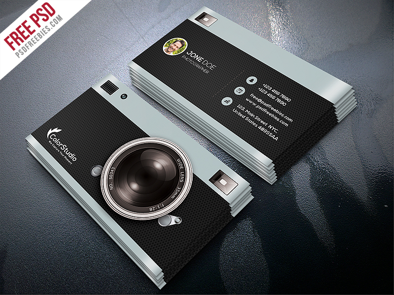 Photography business card template free psd download psd photography business card template free psd reheart Choice Image