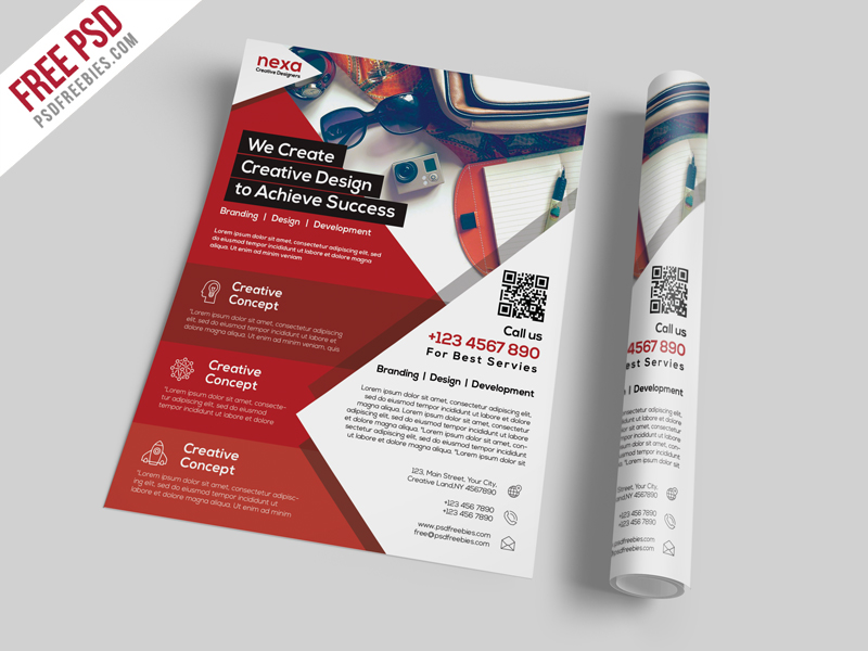 Business And Corporate Flyer Template Free PSD Download Download PSD - Promotional brochure template